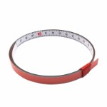 Self Adhesive Pit Measuring Tape 1M x 10 mm, L to R WHITE