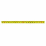 Self Adhesive Pit Measuring Tape 1M x 13 mm, L to R YELLOW
