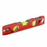 KAPRO Cast Iron Torpedo level 25 cm with plumb-site and magnet