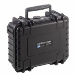 OUTDOOR case in black with foam insert 205 x 145 x 80 mm Volume: 2,3 L Model: 500/B/SI