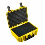 OUTDOOR case in yellow with foam insert 205 x 145 x 80 mm Volume 2,3 L Model: 500/Y/SI