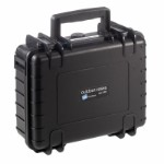 OUTDOOR case in black with foam insert 250 x 175 x 95 mm Volume 4,1 L Model: 1000/B/SI