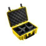 OUTDOOR case in yellow with padded partition inserts 250 x 175 x 95 mm Volume: 4,1 L Model: 1000/Y/RPD