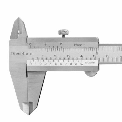 Caliper with screw lock 0-150 x 0,02 mm and Jaw length 40 mm